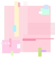 Abstract Geometric Pink Background vector image