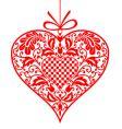 valentine ornamental heart vector image