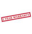 1 year warranty rubber stamp