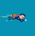 a businessman flying and looking for investment vector image vector image