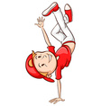 A simple coloured sketch of a hiphop dancer vector image vector image