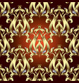 abstract gold baroque seamless pattern antique vector image