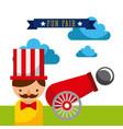 amusement fun fair theme park poster template vector image vector image