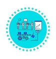 Analysis of Production Flat Style Icon vector image vector image