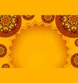 background pattern mandala in brown and orange vector image vector image
