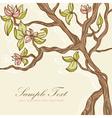 Beautiful blooming tree vector image