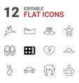 beautiful icons vector image vector image