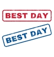 Best Day Rubber Stamps vector image vector image