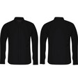 black long sleeve shirt vector image vector image