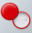 Blank red badges vector image