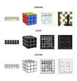 board game cartoonblackoutline icons in set vector image vector image