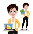 business woman freelancer banker vector image vector image