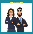 businesswoman and businessman character design vector image vector image