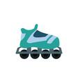 cartoon roller skate sport equipment vector image