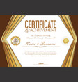 certificate or diploma retro design template 3 vector image vector image