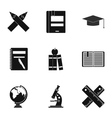 Children education icons set simple style vector image vector image