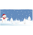 christmas trees greeting card vector image vector image