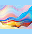 colorful flow brush stroke wave sea isolated line vector image vector image