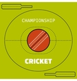 Cricket Flat color icon sports ball and field