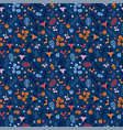 cute seamless pattern with hand drawn berries and vector image vector image