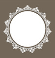 decorative lace style border 0508 vector image vector image