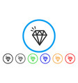 diamond crystal rounded icon vector image vector image