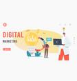 digital marketing landing page template sales vector image vector image