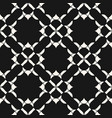 elegant geometric floral pattern black and white vector image vector image
