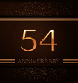 fifty four years anniversary celebration logotype vector image vector image