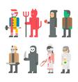 Flat design Halloween costume set vector image vector image