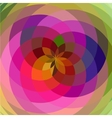 floral spiral abstract