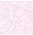floral texture pattern in pink and white vector image vector image