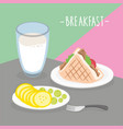 food meal breakfast dairy eat drink menu vector image vector image