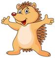 Funny porcupine cartoon vector image