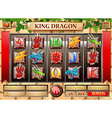 Game template with dragon theme vector image vector image