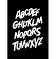 Graffiti comics style font alphabet vector image vector image