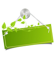 green tablet vector image vector image