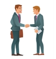 Handshake business men vector image