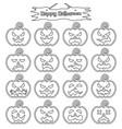 happy halloween - plain sticker pumpkin vector image vector image