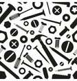 hardware screws and nails with tools seamless vector image