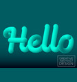 hello sign blue color vector image