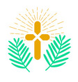 icon palm sunday vector image vector image