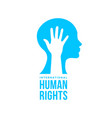 international human rights card people equality vector image vector image