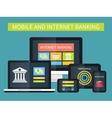 Internet banking online transaction Mobile vector image vector image