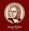 isaac watts was an english christian minister vector image vector image