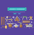 joiners workshop poster in flat style vector image vector image