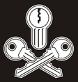 jollyroger lock keys vector image vector image
