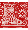 Knitted seamless northern pattern with skate vector image vector image