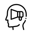 loudspeaker head icon outline vector image vector image