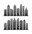 modern city skyline on white vector image vector image